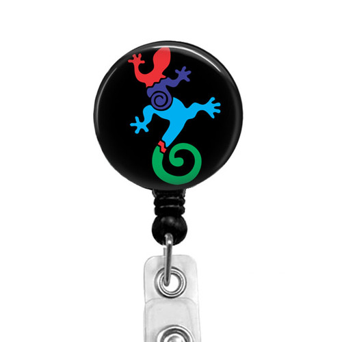 Native American Southwestern Lizard Badge Reel