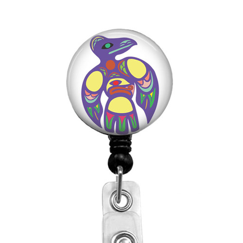 Native American Southwestern Raven Badge Reel