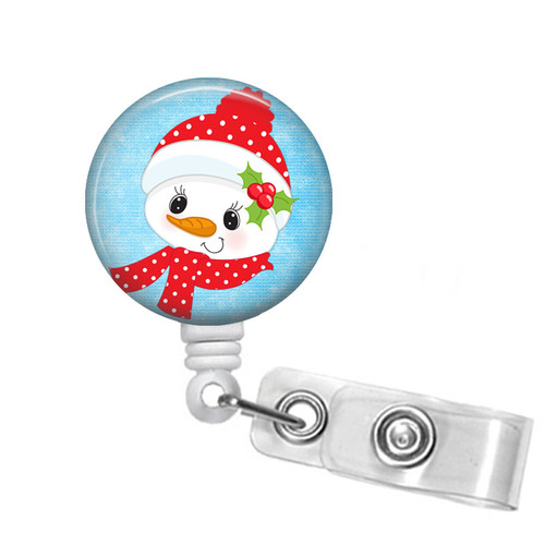Christmas Snowman Badge Reel
