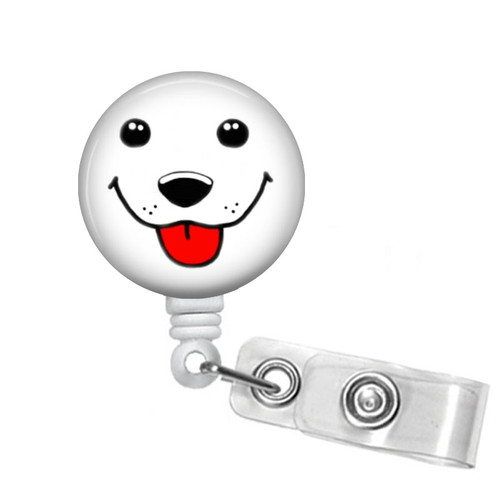 Cute Dog Face Badge Reel