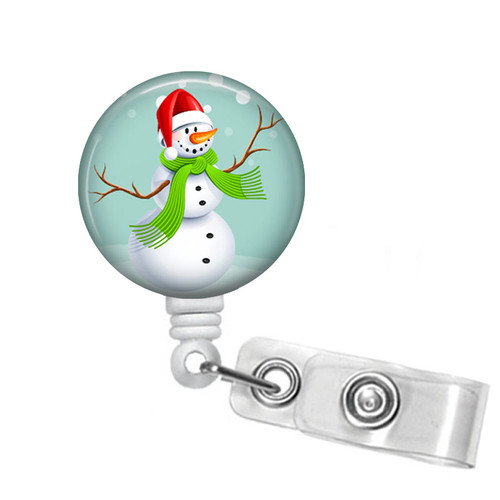 Snowman Christmas Badge Reel