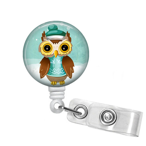 Christmas Owl Badge Reel