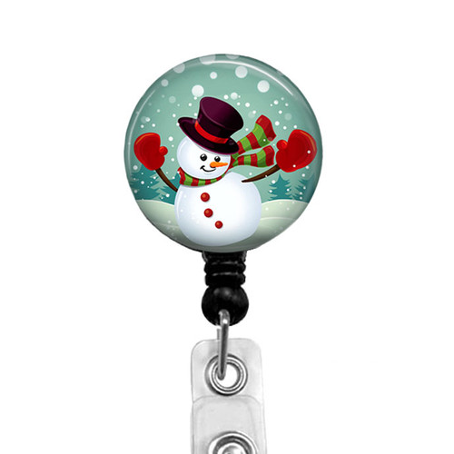Christmas Badge Reel Featuring Dancing Snowman