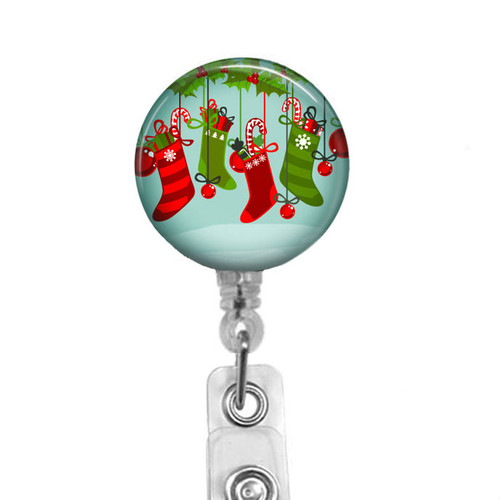 Christmas Stockings Badge Reel
