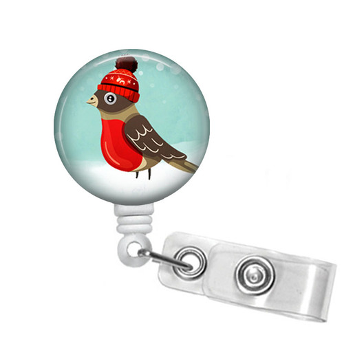 Christmas Bird Badge Reel