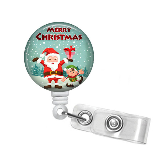 Santa Claus Christmas Badge Reel