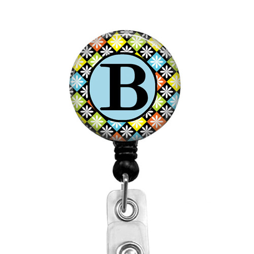 Diamond Argyle Alpha Letter Badge Reel