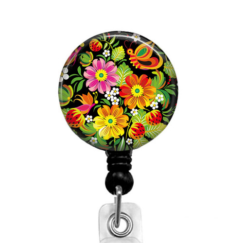 Floral Badge Reel