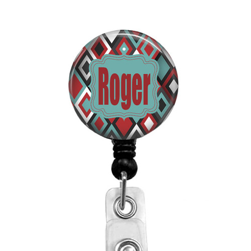 Personalized Aztec Badge Reel for Men or Women