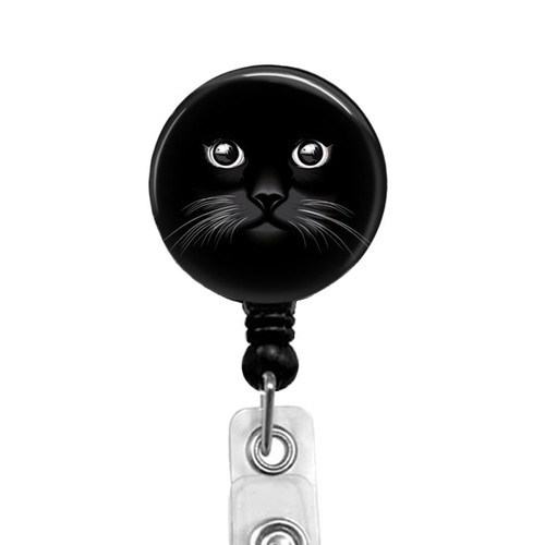 Black Cat Badge Reel