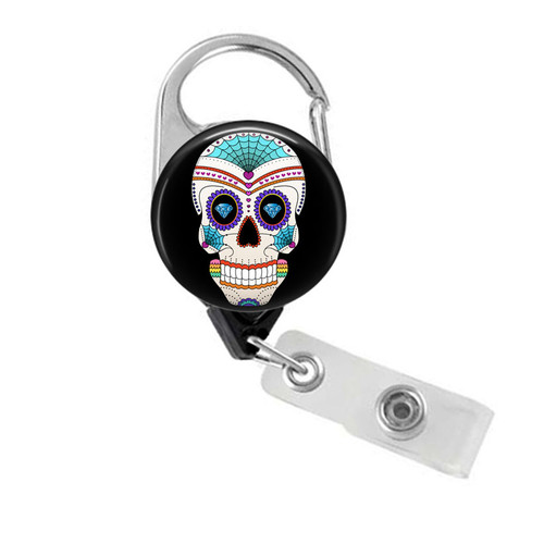 Day of the Dead Sugar Skull Badge Reel