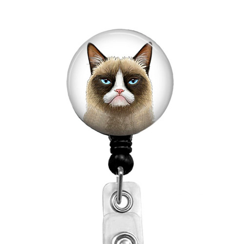 Grumpy Cat Retractable Badge Holder