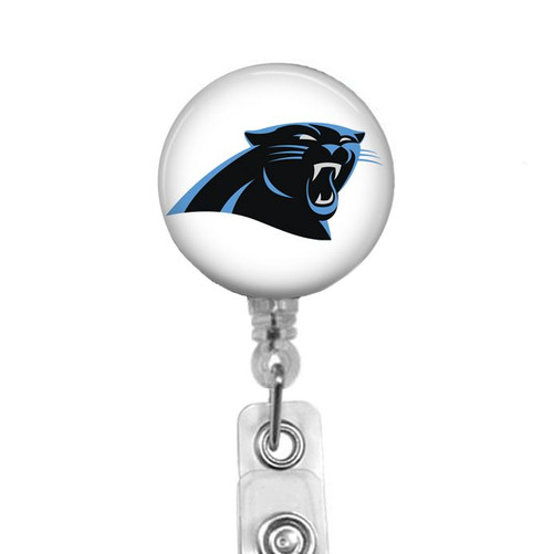 Carolina Panthers on White Background Badge Reel