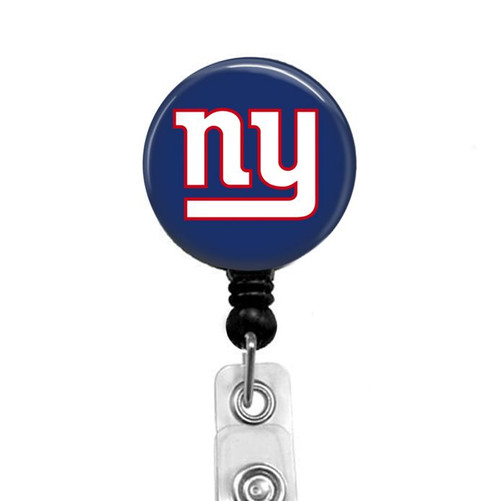 New York Giants on black badge reel from Badge Reel Boutique