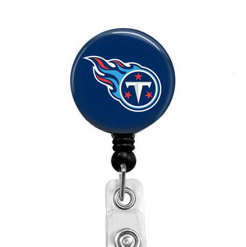 Tennessee Titans on black badge reel from Badge Reel Boutique