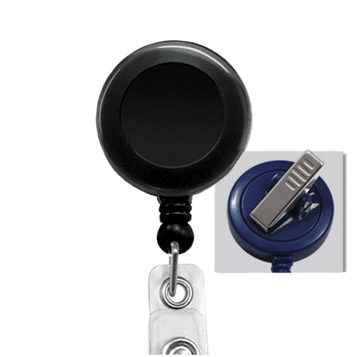 Black Swivel Spring Clip Badge Reel