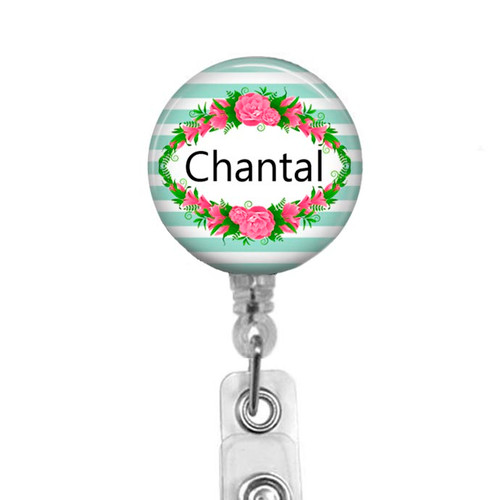 Personalized  Name Badge on Clear Reel
