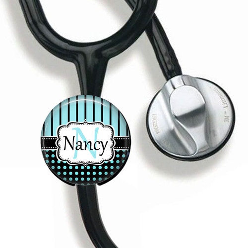 Personalized Stethoscope ID Tag From Badge Reel Boutique