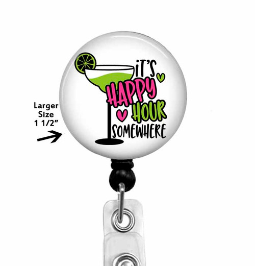 It's Happy Hour Somewhere - ID Badge Holder
