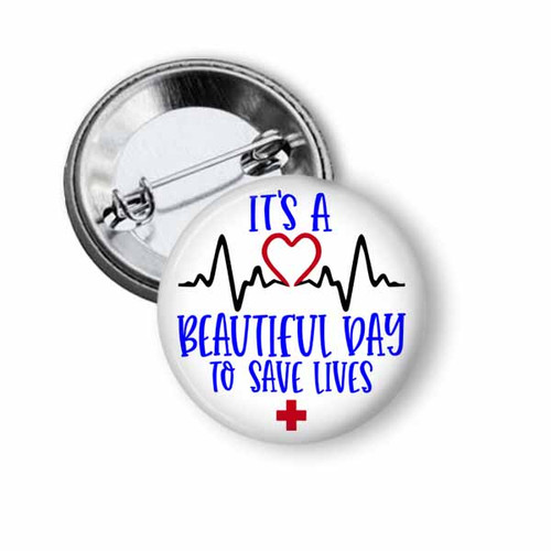 Nursing  pinback button from badge reel boutique