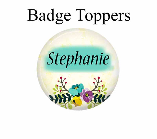 Name badge top for interchangeable magnet or Velcro