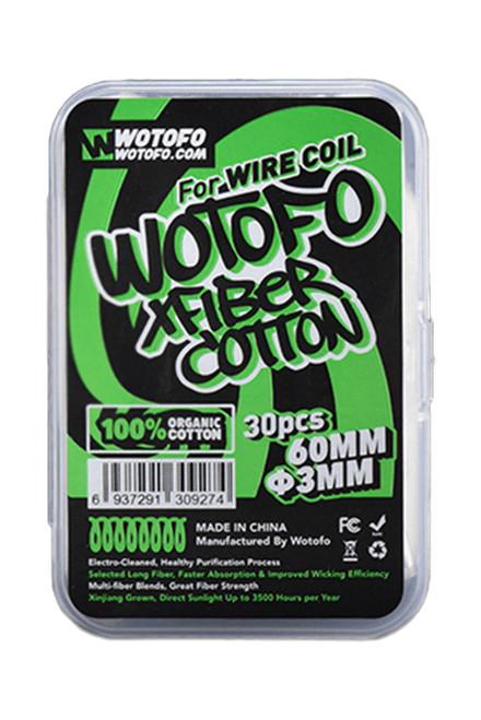 Wotofo XFiber Agleted Cotton - 3mm - 30pcs /pk