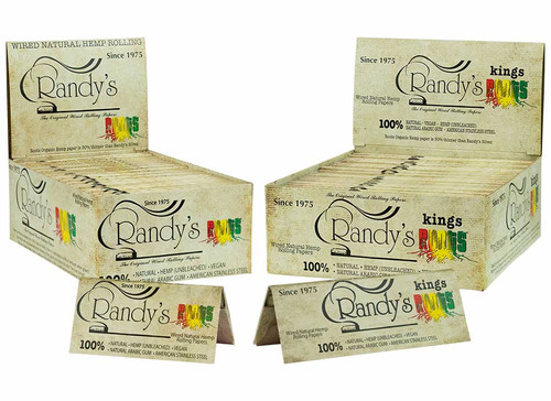 Randy's Roots Wired Rolling Papers (25 Pack Display)