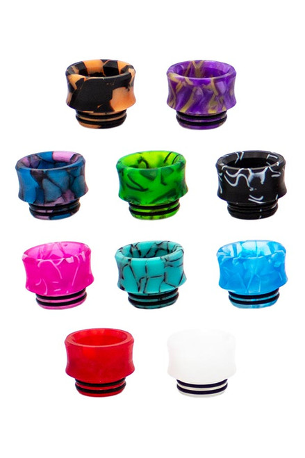 Half Moon Mods - 810 Resin Drip Tip - Assorted Colors