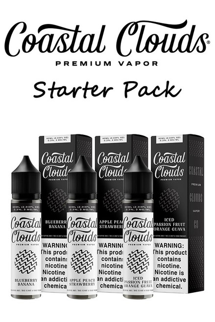Coastal Clouds E-Liquid Starter Pack - 60ml - 50 Bottles
