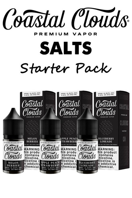 Coastal Clouds E-Liquid Starter Pack - 30ml Salts - 36 Bottles
