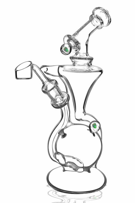 """Pulsar Opal Marble Recycler Water Pipe - 9.5"""" - 14mm Female"""