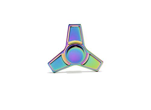 Fidget Spinner Rainbow Flat Point