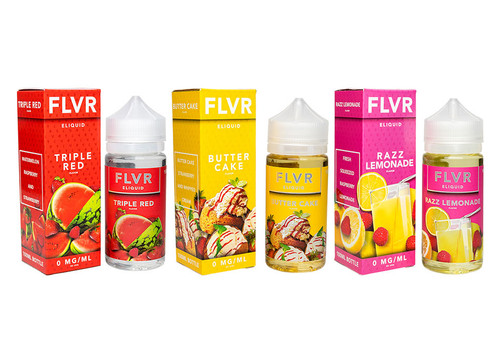 FLVR 100ml Eliquid Bottles With Boxes
