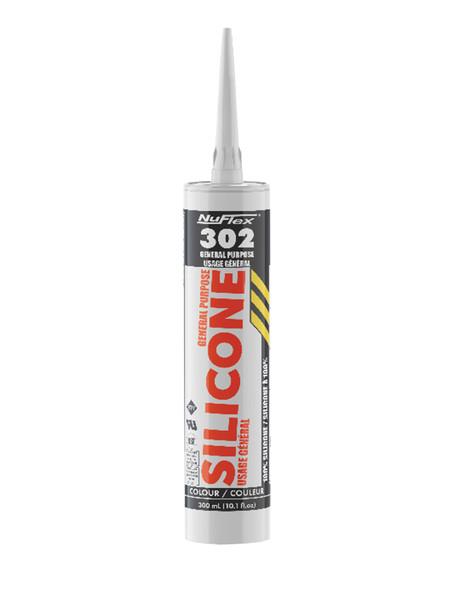 NuFlex 30203 Silicone #302 Black 300ML