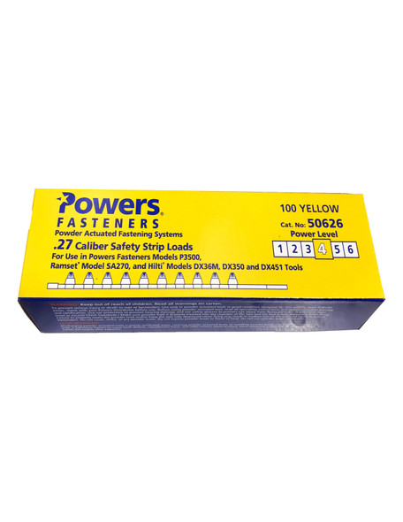 Powers Fasteners 50626-PWR Yellow Shot 27CAL Strip