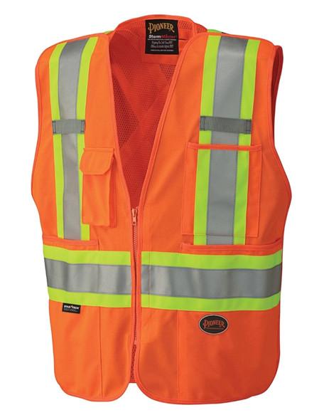 Pioneer 6935 Hi-Viz Safety Tear-Away Mesh Back Vest