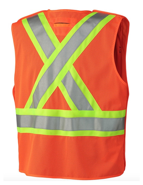 Hi-Viz Safety Tear-Away Mesh Back Vest