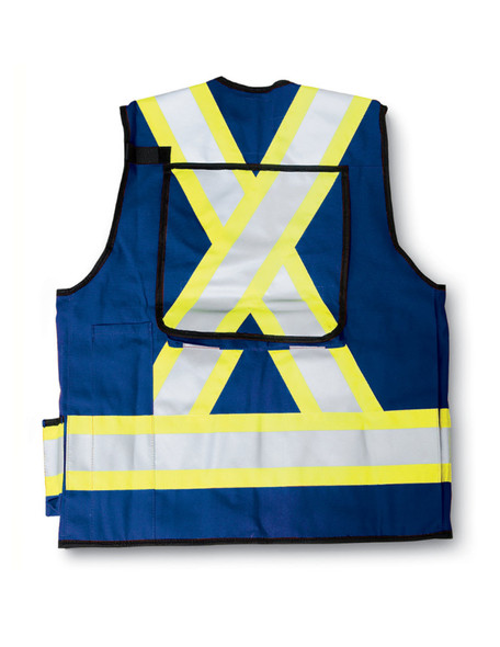 Big K Clothing BK305RB-L Royal Blue Poly/Cotton Surveyor Safety Vest