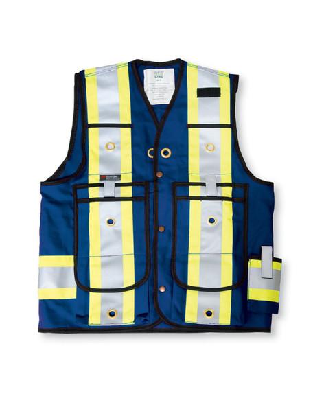 Big K Clothing BK305RB-M Royal Blue Poly/Cotton Surveyor Safety Vest