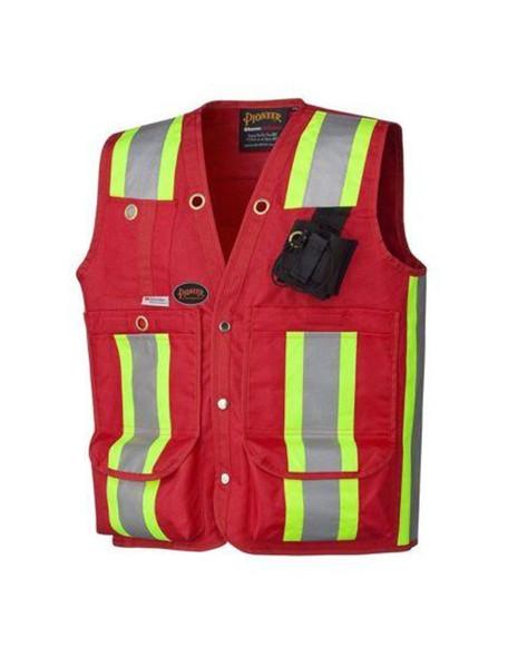 Pioneer Surveyor / Supervisor Vest - Red