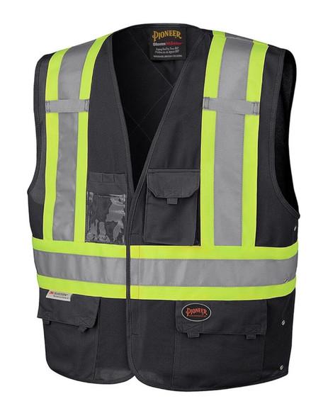 Pioneer 135 Hi-Viz Safety Vest Black