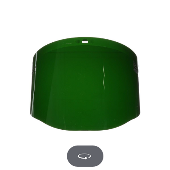 Green Polycarbonate Faceshield Window Shade 5.0