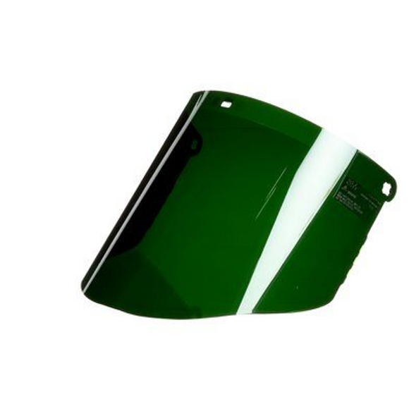 Green Polycarbonate Faceshield Window