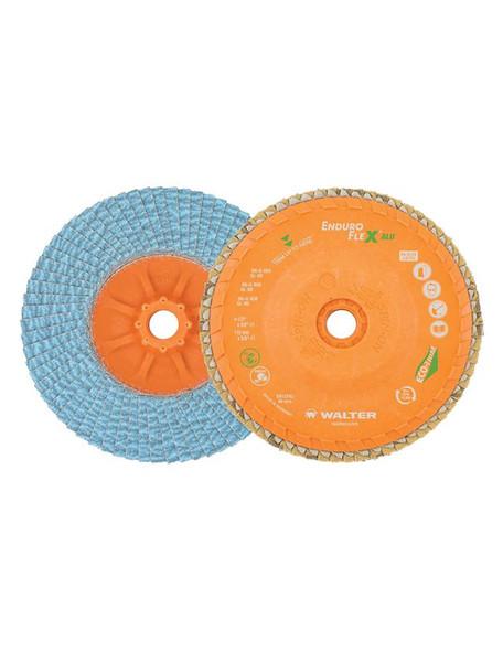"Walter 06-U 504 5"" x 5/8-11"" ENDURO-FLEX ALU Flap Disc - 40 Grit"
