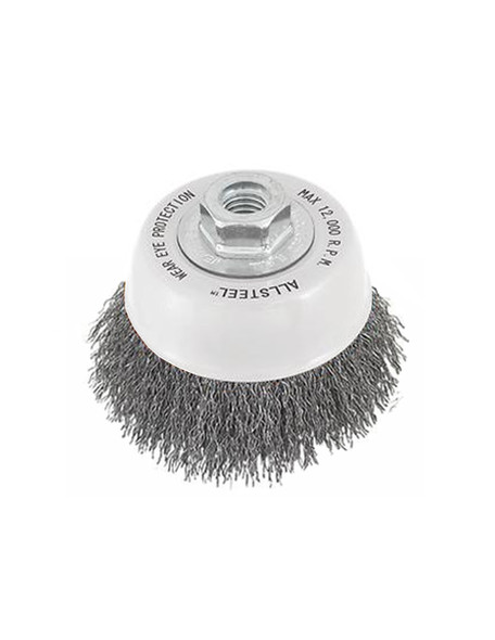 """Walter 13W312 ALLSTEEL Twist Knot Wire Brush Cup 3"""" Stainless Steel"""