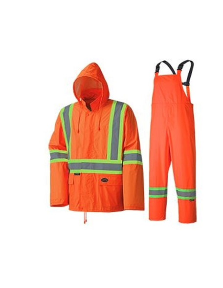 Pioneer 5598 Hi-Viz Orange Lightweight Rainsuit