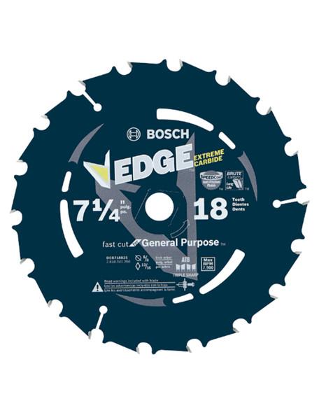 "Bosch DCB718 7-1/4"" 18 Tooth Edge Circular Saw Blade Fast Cut"