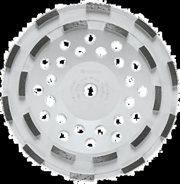 """Bosch DC710H 7"""" Double Row Segmented Diamond Cup Wheel"""