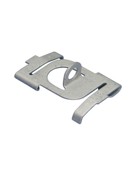 """Caddy 4G16H Twist Clip with 90° Plain Hole, CADDY ARMOUR, Gray, 1/4"""" Hole, 1/16"""" Max Flange, 15/16"""" T-Grid"""