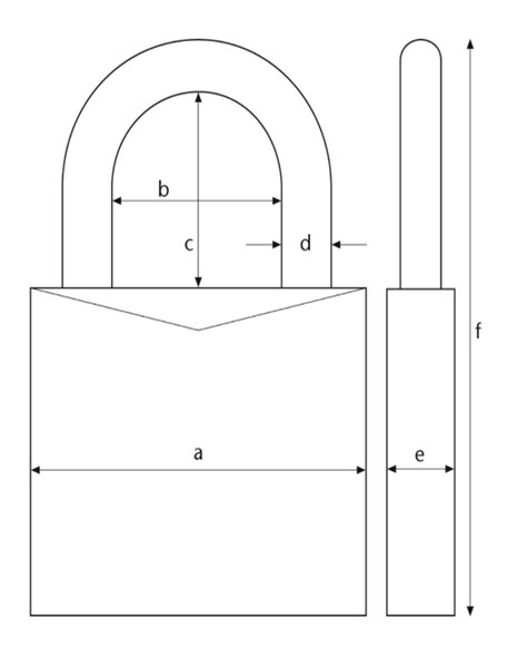 Abus 65-50KD Padlock Brass - Keyed Different